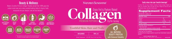 Collagen Peptides Supplement Facts